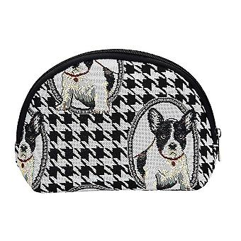 French bulldog women's cosmetic bag by signare tapestry / cosm-fren