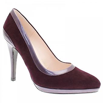 Peter Kaiser Henrike Purple Suede High Platform Court Shoe