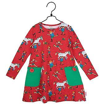 Pippi Långstrump klänning röd