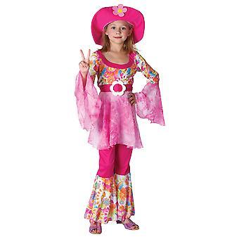 Girls 60s 70s Hippy Diva Fancy Dress Costume