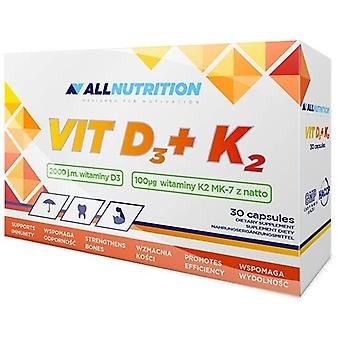 Allnutrition Vit D3 + K2 30 Cápsulas
