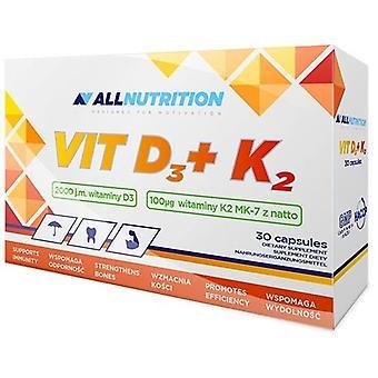 Allnutrition Vit D3 + K2 30 kapselia