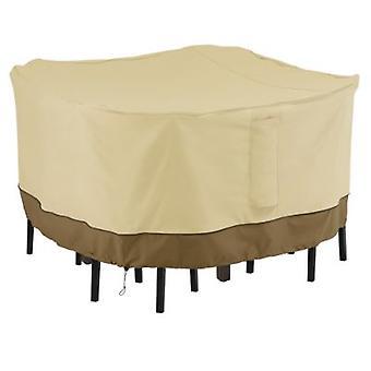 Accesorios clásicos Veranda Square Bar Table & Chair Set Cover - Cubierta de muebles al aire libre resistente al agua, media (55-906-031501-Rt)