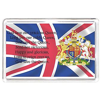 England Britain National Anthem Lyrics Fridge Magnet Sport Gift Football Rugby