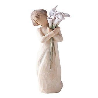 Figurine de beaux souhaits d'arbre de saule