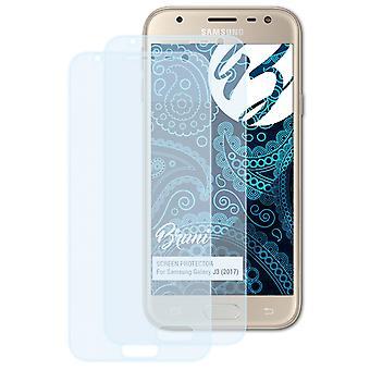 Bruni 2x Protetor de Tela compatível com Samsung Galaxy J3 (2017) Filme protetor