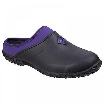 Muck Boots Ladies Black Purple Muckster Ii Neoprene Lined Waterproof Gardening Clog