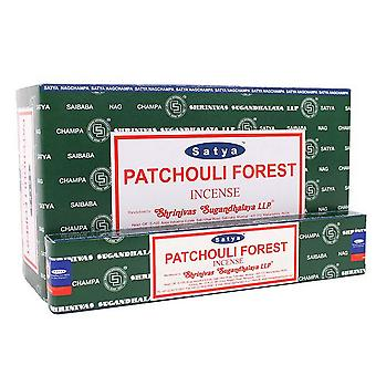 Satya Patchouli Forest Incense Sticks (Box Of 12 Packs)
