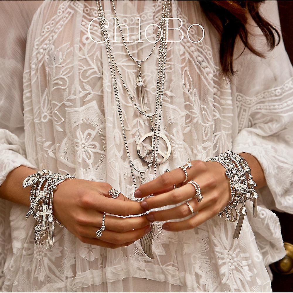 ChloBo Cute Charm Decorated Hamsa Hand Bracelet