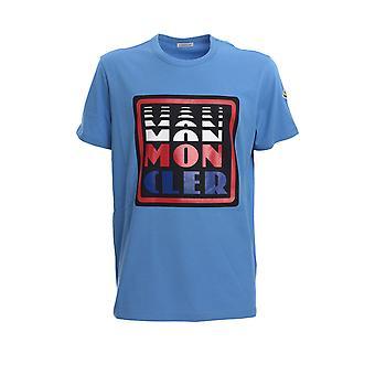 Moncler 8c710108390t705 Men's Light Blue Cotton T-shirt