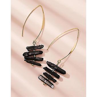 Tiered Stein Tropfen Ohrringe 1 paar