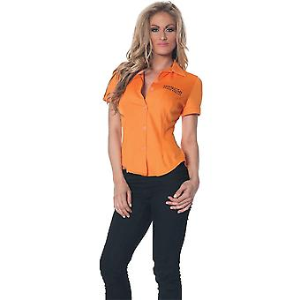 سجين قميص بالغ برتقاليّة