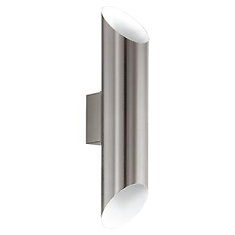 Eglo Agolada - LED Outdoor Up Down Wall Light Stainless Steel, White IP44 - EG94803
