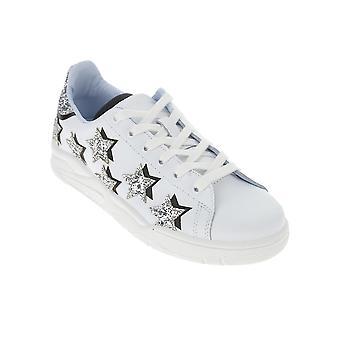Chiara Ferragni Cf2612004 Women's Silver Leather Sneakers