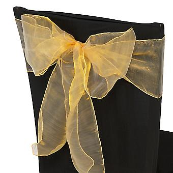 17cm x 274cm Organza Table Runners Wider et Fuller Sashes Gold