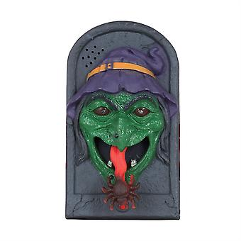 Witch Doorbell W/Moving Tongue