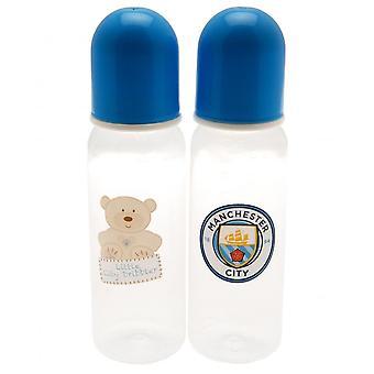 Manchester City FC Baby Fôring Flasker (Pakke med 2)