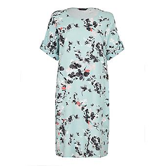 VIZ-A-VIZ Mint Floral Print Dress