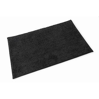 Chloe Black Microfibre Single Bath Mat 50cm x 80cm