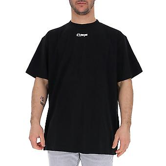 Off-white Omaa038s201850031088 Men's Black Cotton T-shirt