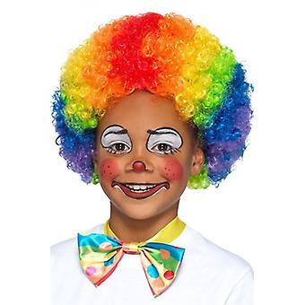 Fargerike klovn Rainbow barn parykk Carnival tilbehør parykk Afro Rainbow
