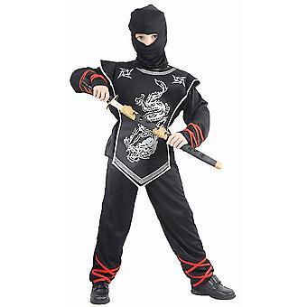 Déguisement ninja dragon argenté garçon