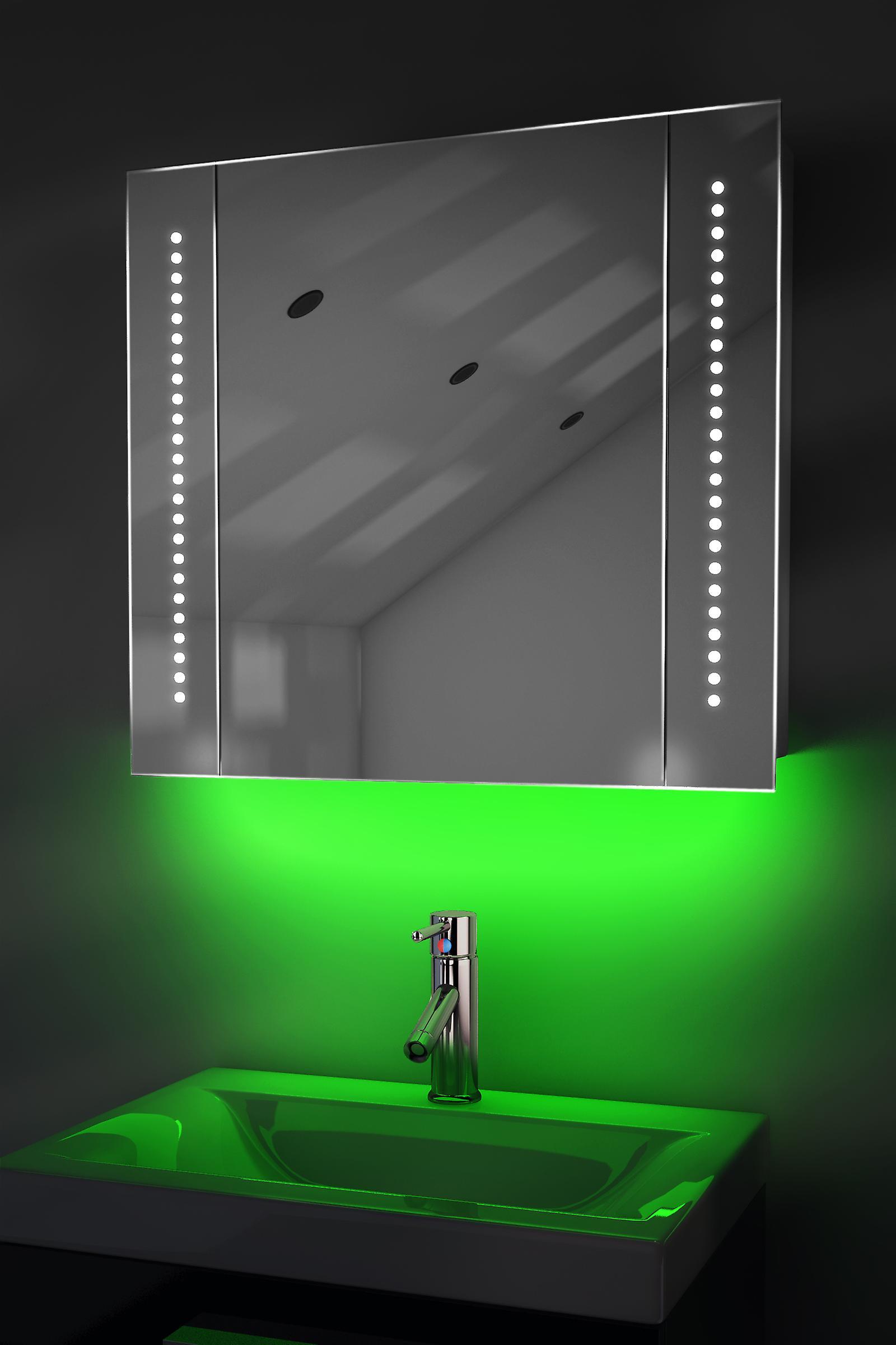 Auto Colour Changing Demist Cabinet With Shaver & Sensor K65Rgb