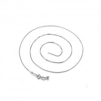 sterling sølv halskjede med hummer lås - 5383