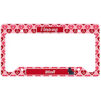 Carolines Treasures SS4489LPF Briard License Plate Frame