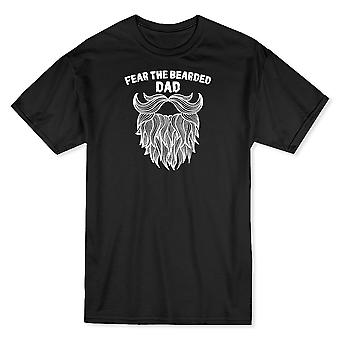 Temen la barba papá divertido gráfico camiseta de los hombres