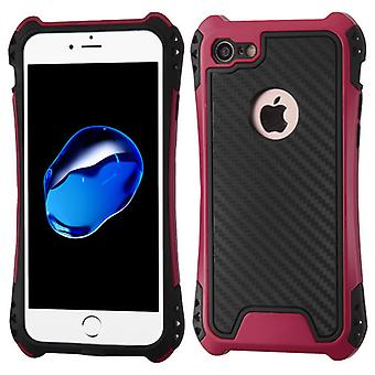 Custodia Asmyna Hero Hybrid Protector per Apple iPhone SE2/8/7 - Hot Pink/Black