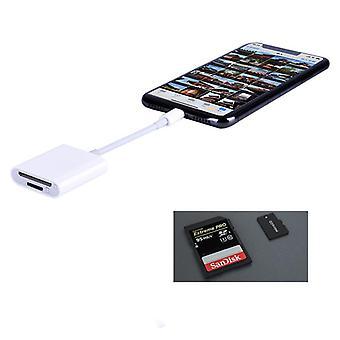 Čítačka pamäťových kariet pre SD a TF karty - Apple devices - Biela