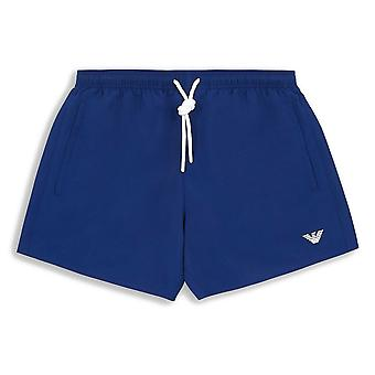 Emporio Armani Essential Logo Swim Shorts, Cobalt Blue, Large (52)