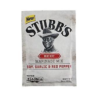 Stubb boeuf Marinade Mix soja, l'ail & poivron rouge 3 paquet Pack