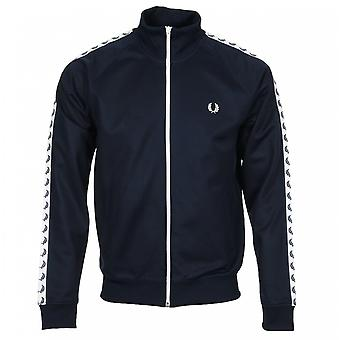 Fred Perry Afgeplakte Track Jacket Blauw