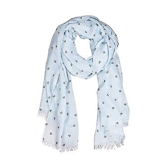 Wrendale Designs Scarf - Flight of the Bumblebee in Blue colour