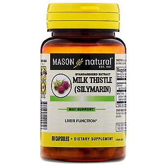 Mason natural milk thistle (silymarin) liver cleanser, capsules, 60 ea *