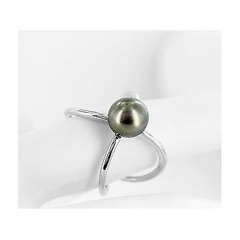 Luna-Pearls - Ring - Pearl Ring - 585 White Gold - Ring Size 56 (17.8mm)