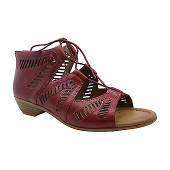 Comfortiva Womens riley Leather Open Toe Casual Strappy Sandals