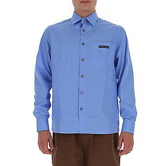 Prada Ucn3001w7of0013 Männer's hellblau Baumwollshirt
