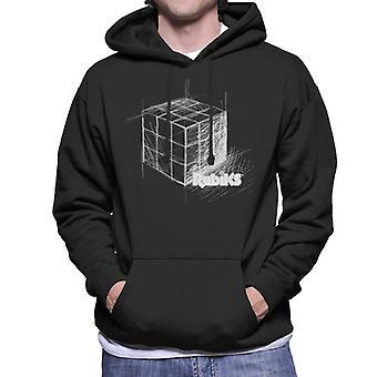 Rubik's Drawn kubus mannen Hooded Sweatshirt