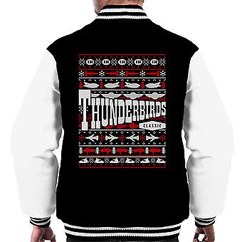 Thunderbirds IR Classic Christmas Knit Design Män & apos; s Varsity Jacket