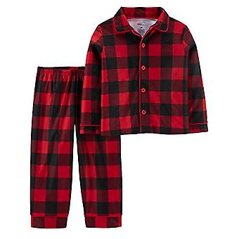 Simple Joys de Carterăs Boysă 2-Piece Coat Style Pijama Set, Buffalo Check, 1...