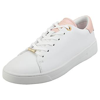 Ted Baker Zenip Womens Fashion Trainers in White Pink