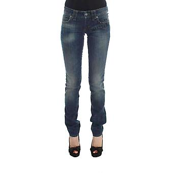 Galliano Blue Wash Cotton Blend Slim Fit Jeans -- SIG3739376