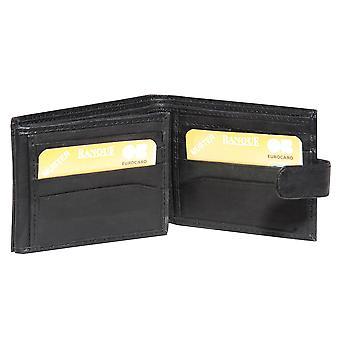 Primehide BASIC - Mens Leather Wallet - RFID Blocking - Preto / Marrom - 94