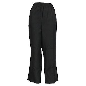 Alfred Dunner Women's Plus Pants Pull On Side Pockets Black
