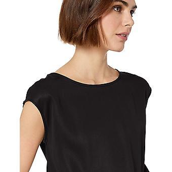 Daily Ritual Women's Tencel Short-Sleeve Romper, Black, 10