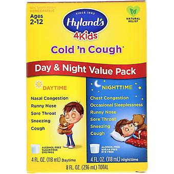 Hyland's, 4 Kids, Cold 'n Cough, Day & Night Value Pack, Age 2-12, 4 fl oz (118