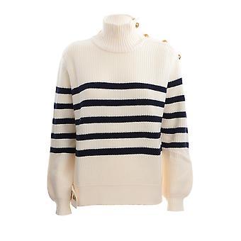 Pinko 1g1563y6dxze1 Kvinder's Hvid Uld Sweater